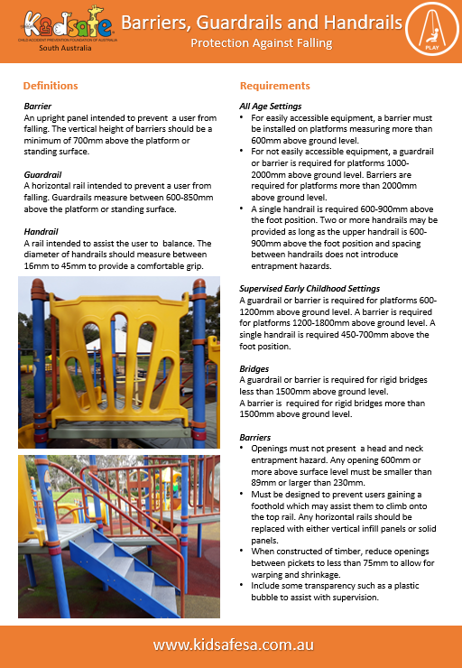 Playground safety | Kidsafe SA