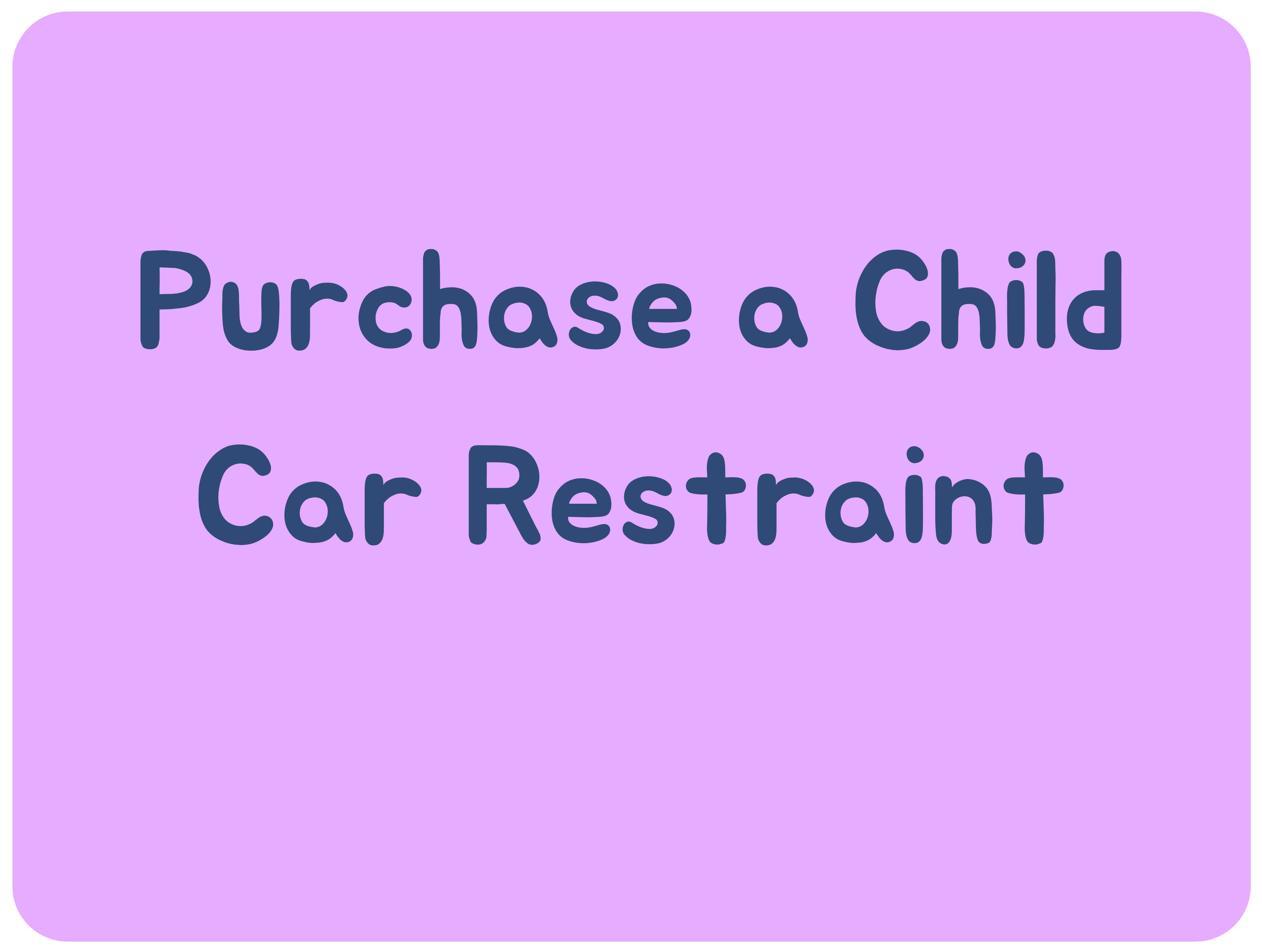 Purchase a Child Car Seat